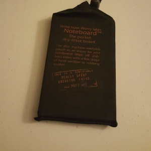 Noteboard in storage bag